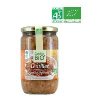 Plat De Legumes - Feculents Lentilles cuisinees legumes bio - 660g
