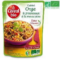 Plat De Legumes - Feculents Orge et pruneaux a la marocaine - 220g