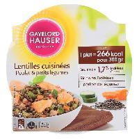 Plat De Legumes - Feculents Plat prepare Lentilles cuisinees.et poulet - 300g