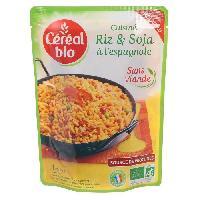 Plat De Legumes - Feculents Riz et soja a l'espagnol - 220 g