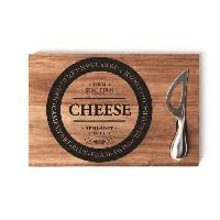 Plateau - Plat De Service SP Planche + couteau a fromage - 30 x 20 cm - Bois