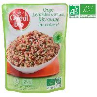 Plats Prepares Boulghour d'orge riz rouge et lentilles vertes - 250 g