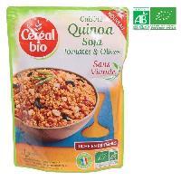 Plats Prepares Cuisine quinoa soja tomates et olives - 220g