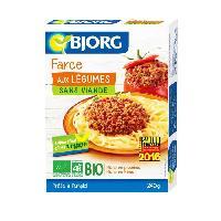 Plats Prepares Farce aux legumes Bio 240g
