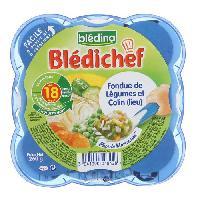 Plats Prepares Poisson Bledina Bledichef assiette fondue de petits legumes colin 260g