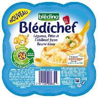 Plats Prepares Poisson Legumes pates et cabillaud blanc Bledichef - 260 g