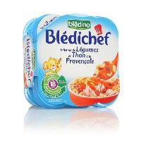 Plats Prepares Poisson Lot de 2 plats cuisines - Julienne de legumes et thom a la provencale Bledichef - Des 18 mois - 2 x 260 g
