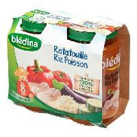 Plats Prepares Poisson Petits pots ratatouille et colin - 2 x 200 g