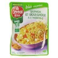 Plats Prepares Quinoa et boulghour a l'indienne - 220 g