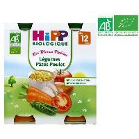 Plats Prepares Soir BIOLOGIQUE Les menus plaisirs Legumes pates poulet - 2x250 g - Des 12 mois
