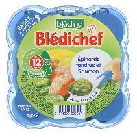 Plats Prepares Soir Bledichef Epinards tendres et saumon - 230 g - Des 12 mois
