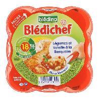Plats Prepares Soir Bledichef assiette legumes et volaille a la basquaise 260g