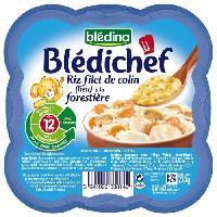 Plats Prepares Soir Bledichef assiette riz colin a la forestiere 230g