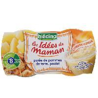Plats Prepares Soir Idees de maman puree de pommes de terre et poulet - 2 x 200 g