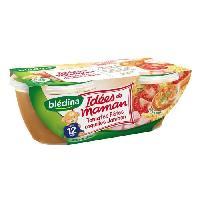 Plats Prepares Soir Lot de 2 plats cuisines- Tomates. pates. coquilles et jambon Idees de Maman - Des 12 mois - 2 x 200 g