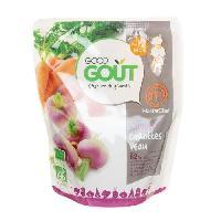 Plats Prepares Soir Navet carottes veau - 12 mois - 220 g