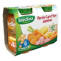 Plats Prepares Soir Petits pots de carottes et jambon - Des 6 mois - 2 x 200 g
