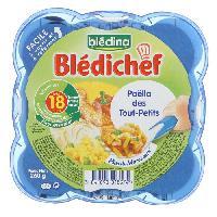 Plats Prepares Viande Bledichef Paella des tout petits