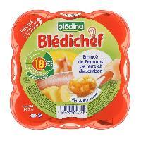 Plats Prepares Viande Bledichef assiette emince de pommes de terre et de jambon 260g