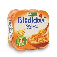 Plats Prepares Viande Lot de 2 Plats Cuisines Bedichef - Couscous Des Tout-Petits Des 12 mois 2 x 230 gr - lot de 4 -A