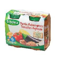 Plats Prepares Viande Petits Pots Puree Aubergine Tomate Agneau - 2 x 200g