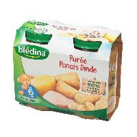 Plats Prepares Viande Petits Pots Puree Panais Dinde - 2 x 200g