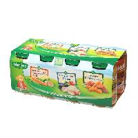 Plats Prepares Viande Petits Pots assortiments legumes poulet colin - 8 x 200g