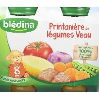 Plats Prepares Viande Petits pots Printaniere de legumes veau - 2x200 g - Des 8 mois