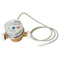 Plomberie (debitmetre - Volucompteur) Compteur a jet unique + 1 aiguille a impulsion - 8 Rouleaux - Calibe 15 - L 110 mm
