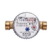 Plomberie (debitmetre - Volucompteur) Compteur divisionnaire - Eau chaude - Calibre 15 male 34 - 110 mm