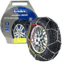 Pneus Chaines neige 9mm pour pneu 14-15POUCES - SYNCHRO 55 Generique