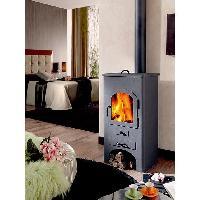 Poele - Insert - Foyer PANADERO Dublin 11.5 Kw Poele a bois en acier - Flamme verte 5 etoiles - Rendement-77 - Buches 42cm - Four