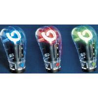 Pommeau de levier de vitesse avec neon - Rouge - NA70 - 12V - 666-CaL Generique