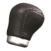 Pommeau de levier de vitesses noir cuir