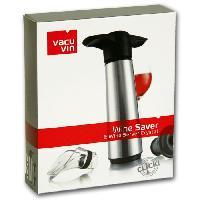 Pompe A Vin - Pompe De Conservation Vin  Coffret pompe rvs + 2 bouchons + 2 anti gouttes Vacu Vin