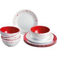 Popote - Vaisselle - Couverts BRUNNER Pack vaisselle mélamine Cosmic 12 pieces
