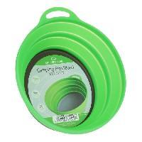 Popote - Vaisselle - Couverts Cuisine rando silicon ellipse bowl - green