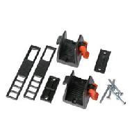 Portage - Remorquage 1 paire Porte-skis Rack sur barres de toit Generique
