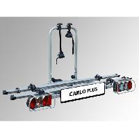 Portage - Remorquage Porte-vélos sur attelage- 2 vélos Eufab Carlo Plus