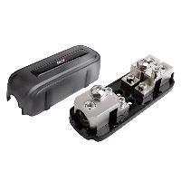 Porte-Fusibles pour auto 1 Porte fusibles ANL compatible avec 2 mini-ANL ou 1 ANL - 1X 35 50 mm2 2X 1020 mm2 Argent