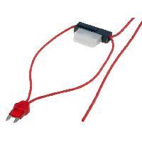 Porte-Fusibles pour auto Porte-Fusible Mini 8A 0.75mm2 rouge ADNAuto