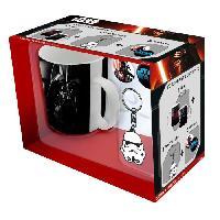 Porte-cles - Etui A Cle Pack Mug + Porte-cles + Badges Star Wars - Mug Troop -Vador + Porte-cles Trooper + Badges - ABYstyle - Generique