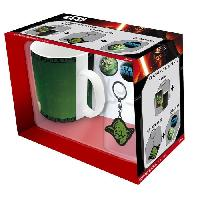 Porte-cles - Etui A Cle Pack Mug + Porte-cles + Badges Star Wars - Yoda - ABYstyle - Generique