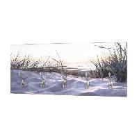 Porte-manteau - Patere - Portant Patere murale. MDF. Imprimé par UV . 5 Crochets. 70 x 30 x 8 cm. 17973 - Generique