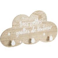 Porte-manteau - Patere - Portant Patere nuage bonheur x3 - Style enfant
