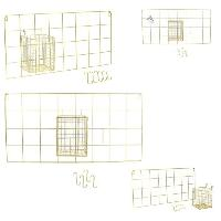 Porte-manteau - Patere - Portant THE HOME DECO FACTORY Support mural filaire Pot M12 - 5 crochets - Aucune