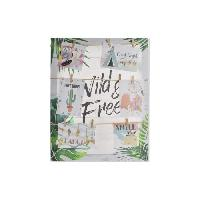 Porte Photo Porte-photos Tropical en toile et corde - 40 x 50 x 2.5 cm - Multicolore