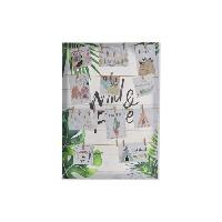 Porte Photo Porte-photos Tropical en toile et corde - 50 x 70 x 2.5 cm - Multicolore