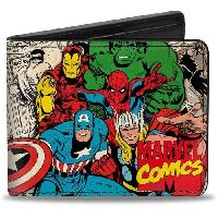 Portefeuille Porte-Feuille Marvel- Heros Marvel