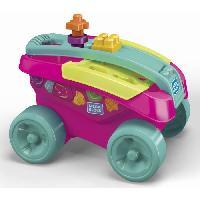 Porteur - Pousseur MEGABLOKS - Mon Wagon Trieur de Formes - Rose - Mattel